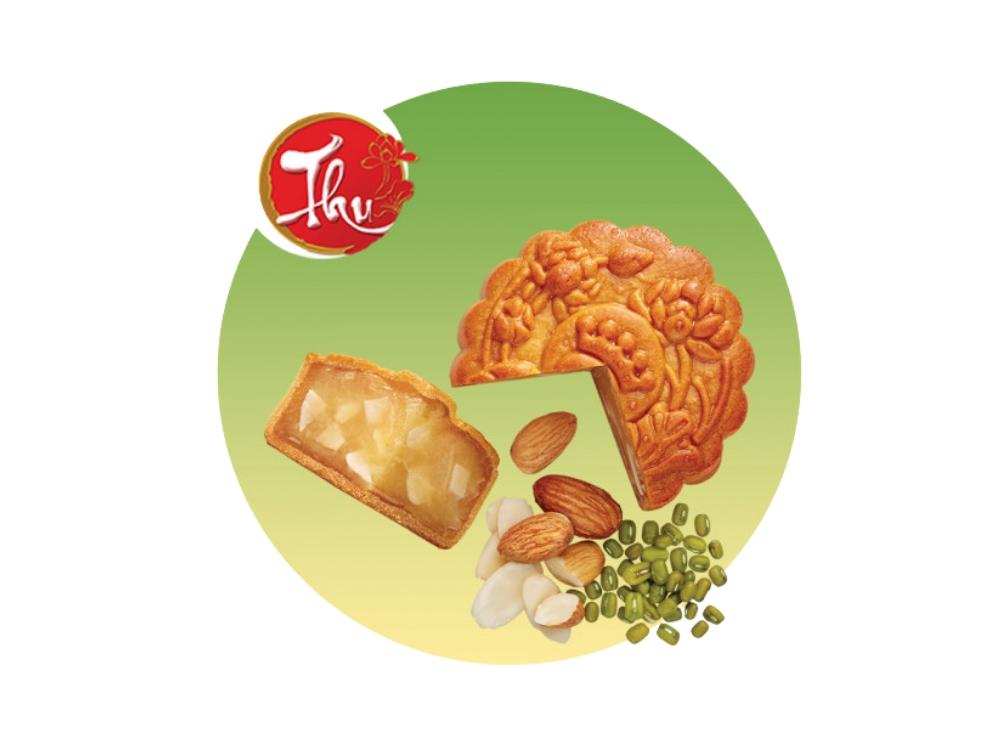 Bánh nướng Đậu xanh hạnh nhân 150g * Kinh Đô (XDX)