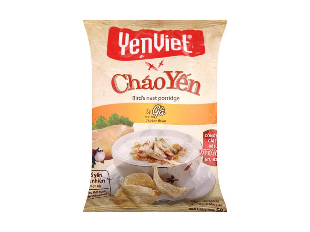 Cháo yến dinh dưỡng YenViet -Vị Gà Combo 10 gói
