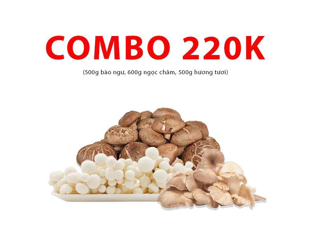 Combo 6 (500g bào ngư, 600g ngọc châm, 500g hương tươi)