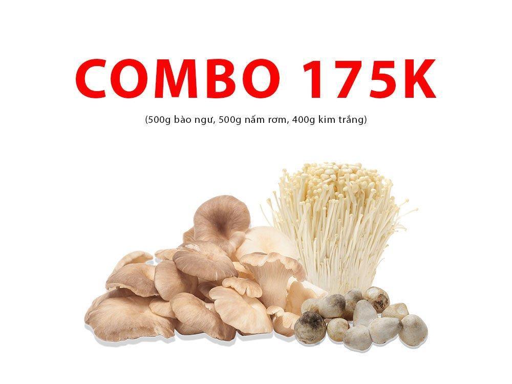Combo 7 (500g bào ngư, 500g nấm rơm, 400g kim trắng)