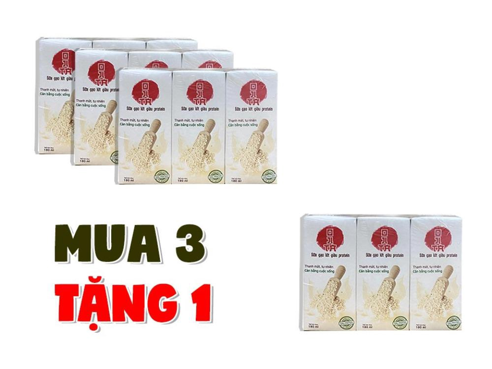 Combo mua 3 Lốc tặng 1 Lốc Sữa gạo lứt Lavina Food 180ml