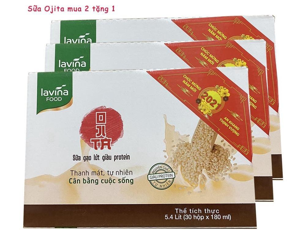 Combo mua 2 Thùng tặng 1 Thùng Sữa gạo lứt Lavina Food 180ml