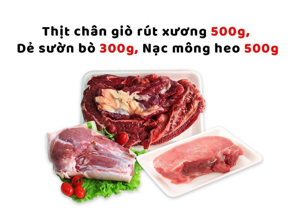 Combo thịt lợn sạch Hạnh Sinh 3