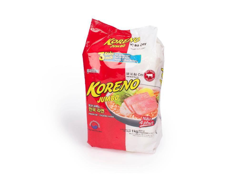 Mỳ Jumbo Koreno Bò Cay 1kg