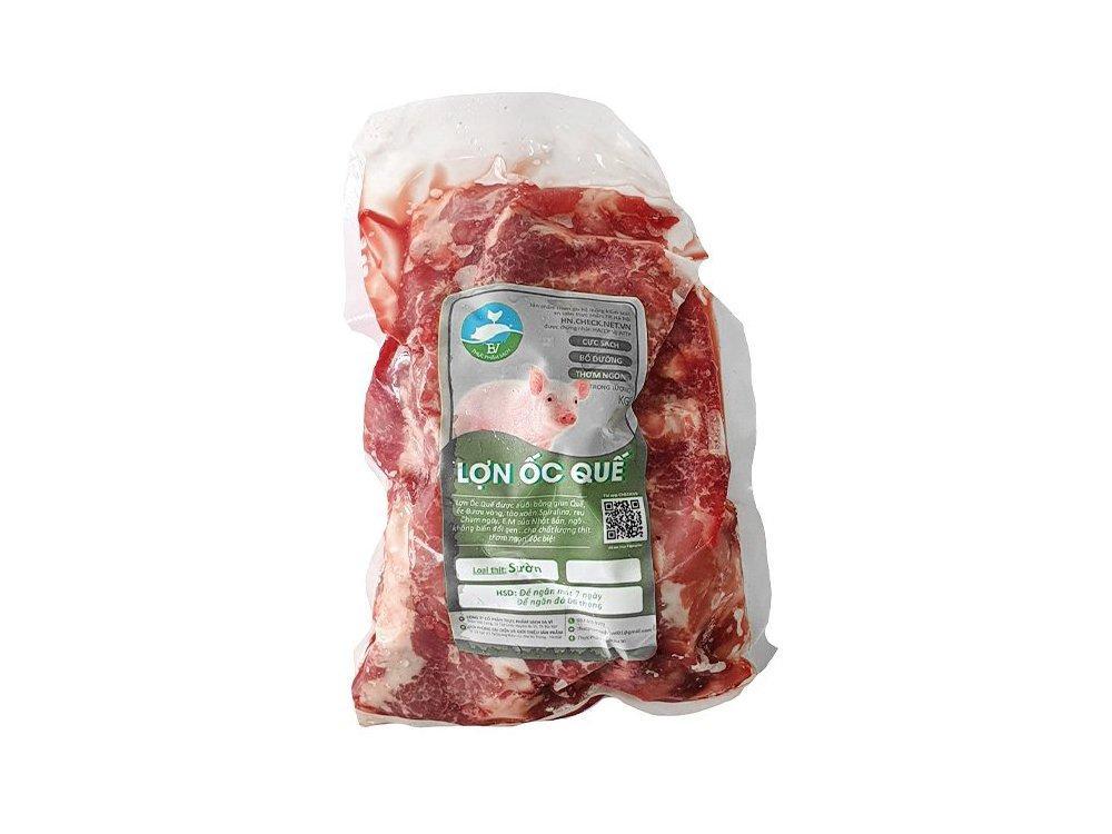 Nạc thăn lợn ốc quế Đông lạnh từ 400g - 600g