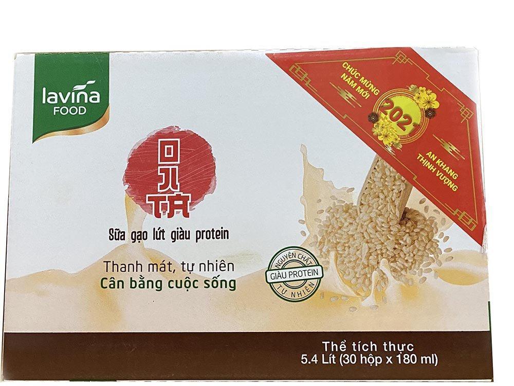 Sữa gạo lứt Lavina Food 180ml