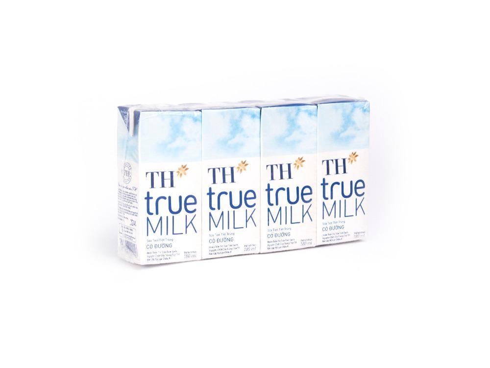 Sữa Tươi Tiệt Trùng Có Đường TH 180ml