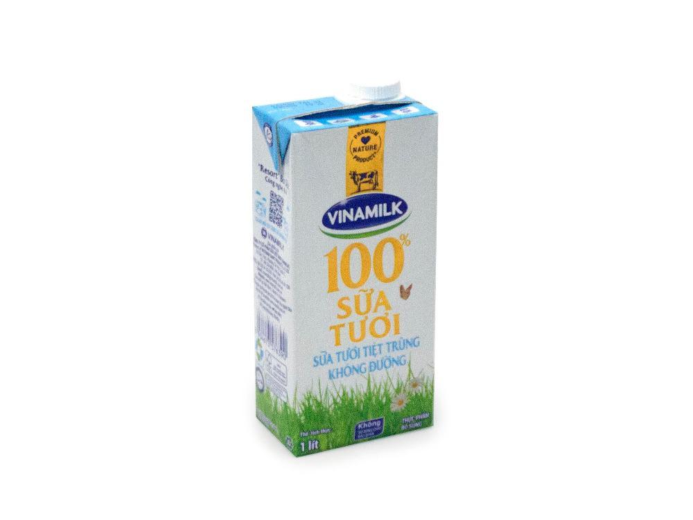 Sữa Tươi Tiệt Trùng Không Đường Vinamilk 1L