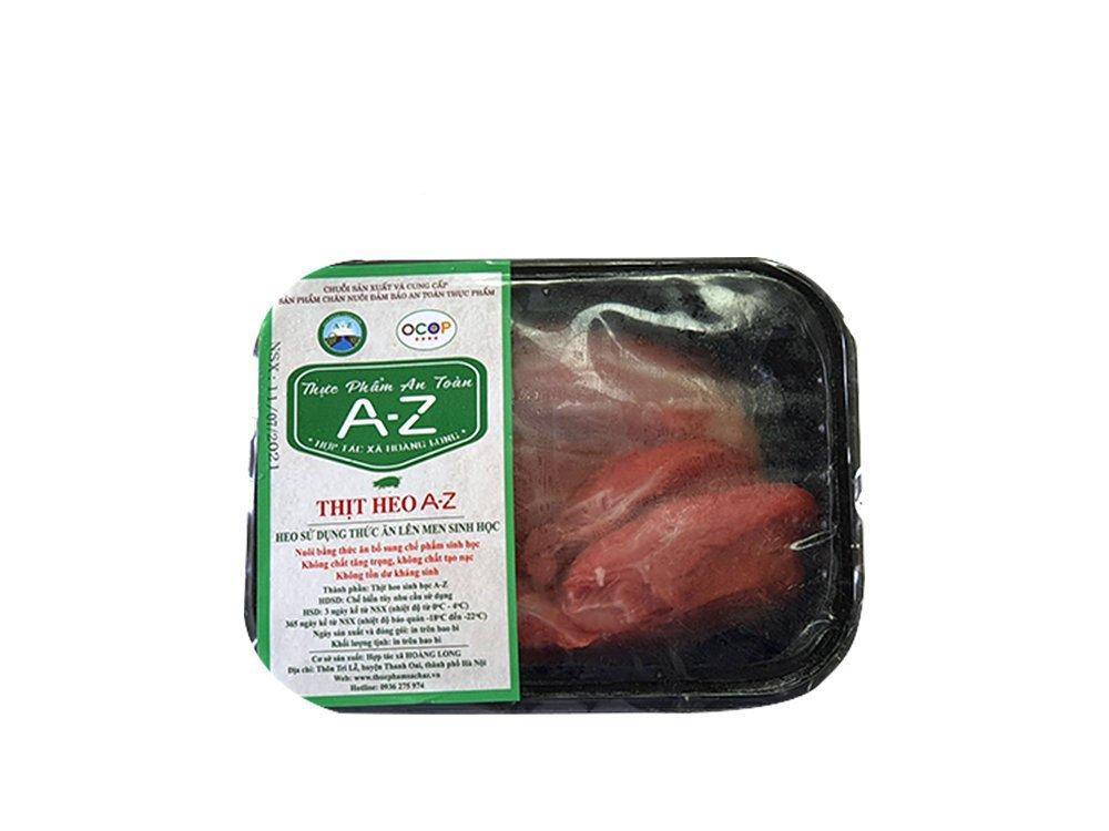 Thịt nạc mông lợn Sinh học A-Z hộp 500g