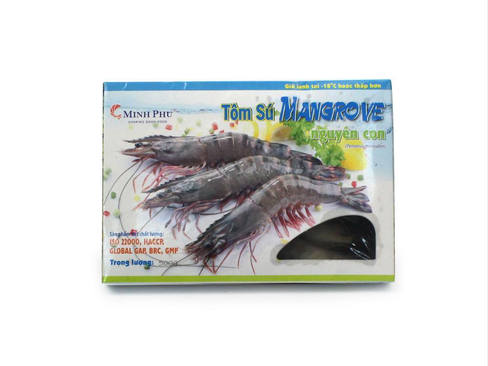 Tôm Sú Mangrove Nguyên Con 500g Size 30 * 15 con/Hộp