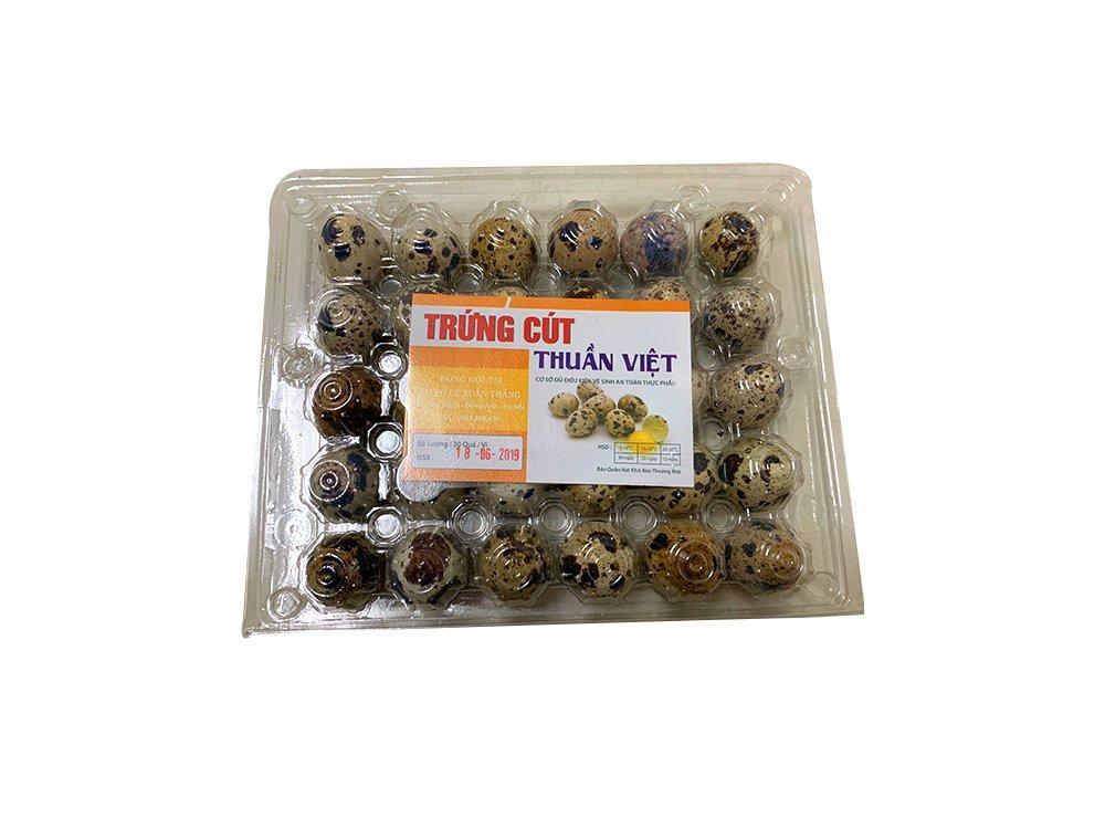 Trứng cút Thuần Việt hộp 30 quả
