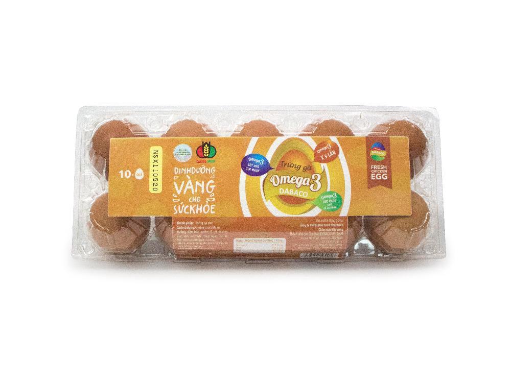 Trứng Gà Omega 3 Dabaco Hộp 10 Quả