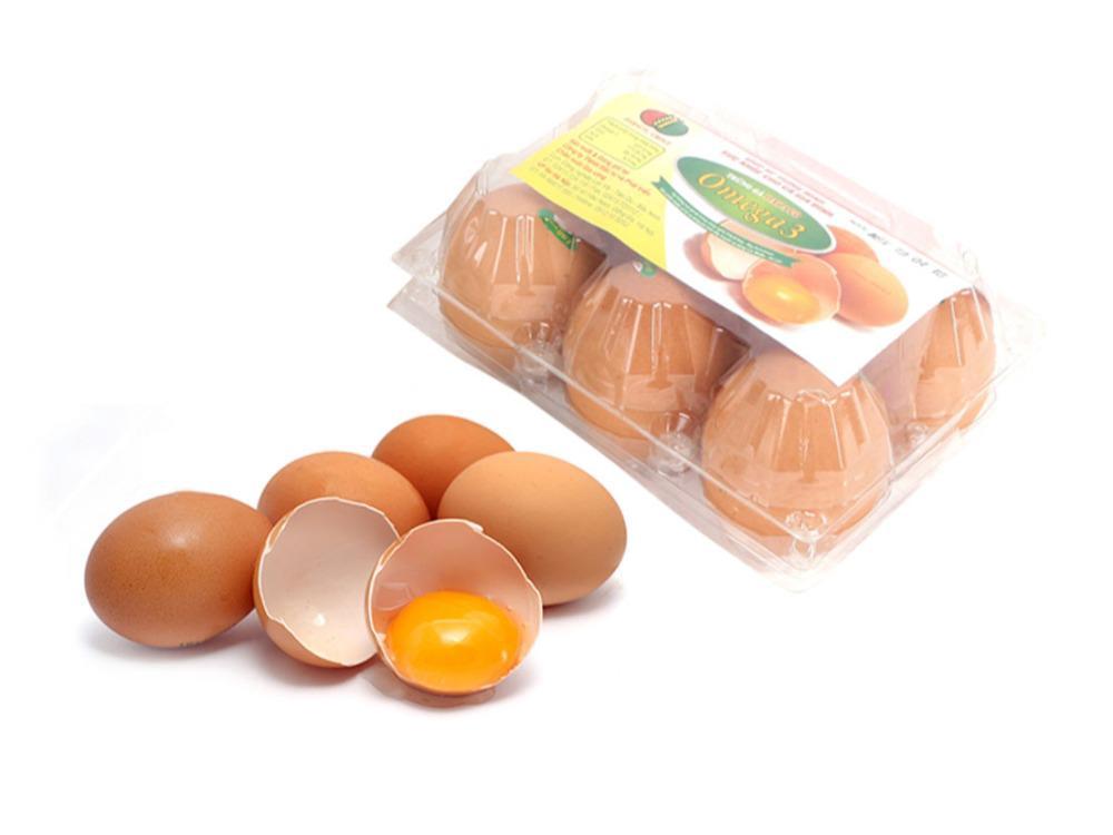 Trứng Gà Omega 3 Dabaco Hộp 6 Quả
