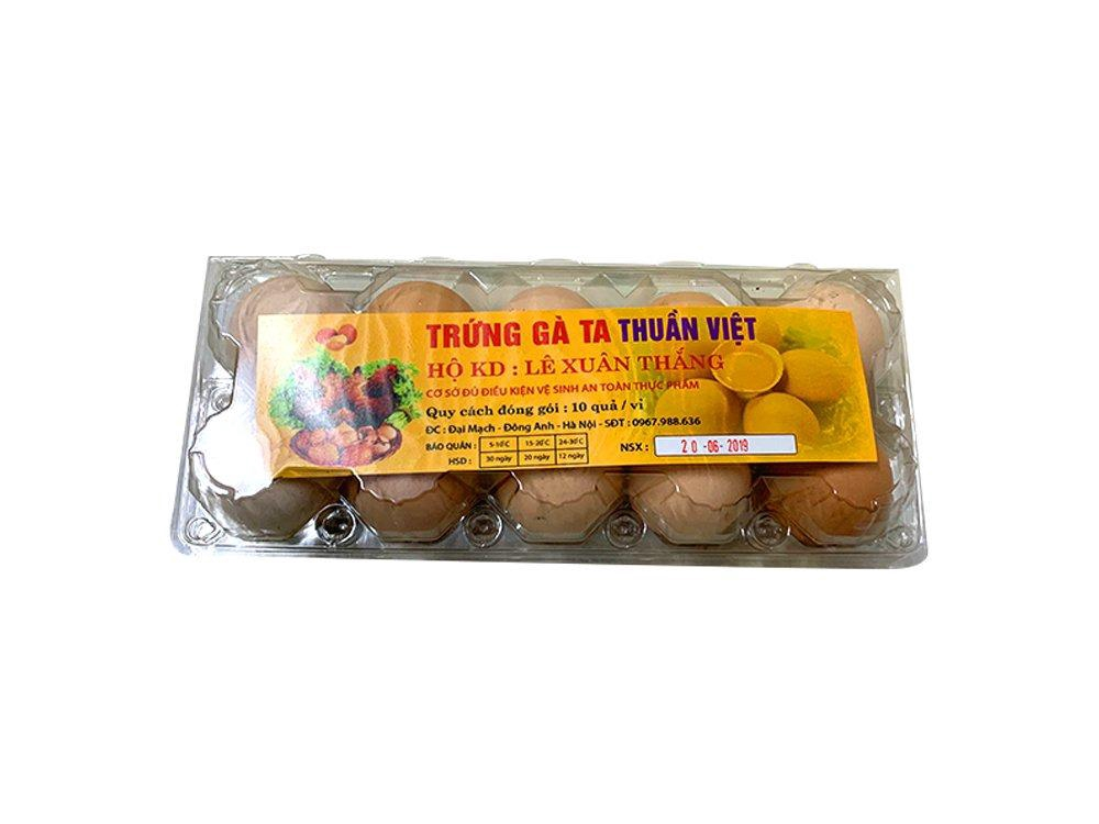 Trứng gà ta Thuần Việt hộp 10 quả